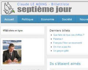 Capture Site internet Septième jour