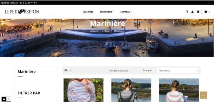 Page le petit breton - marinière