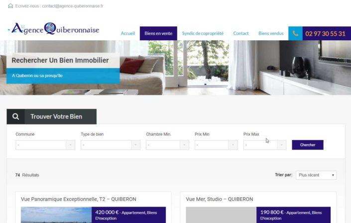 Site Agence Quiberonnaise
