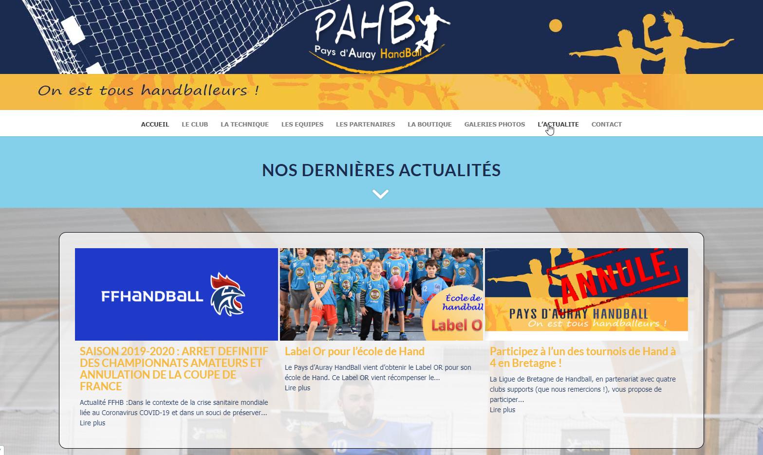 PAHB - Pays d'Auray Handball